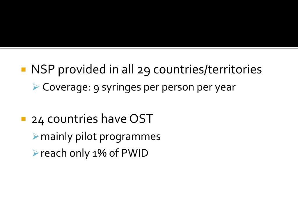 NSP provided in all 29 countries/territories