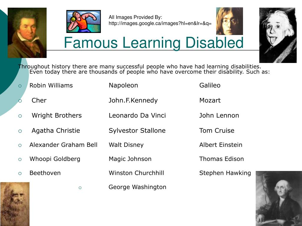 Famous Learning Disabled