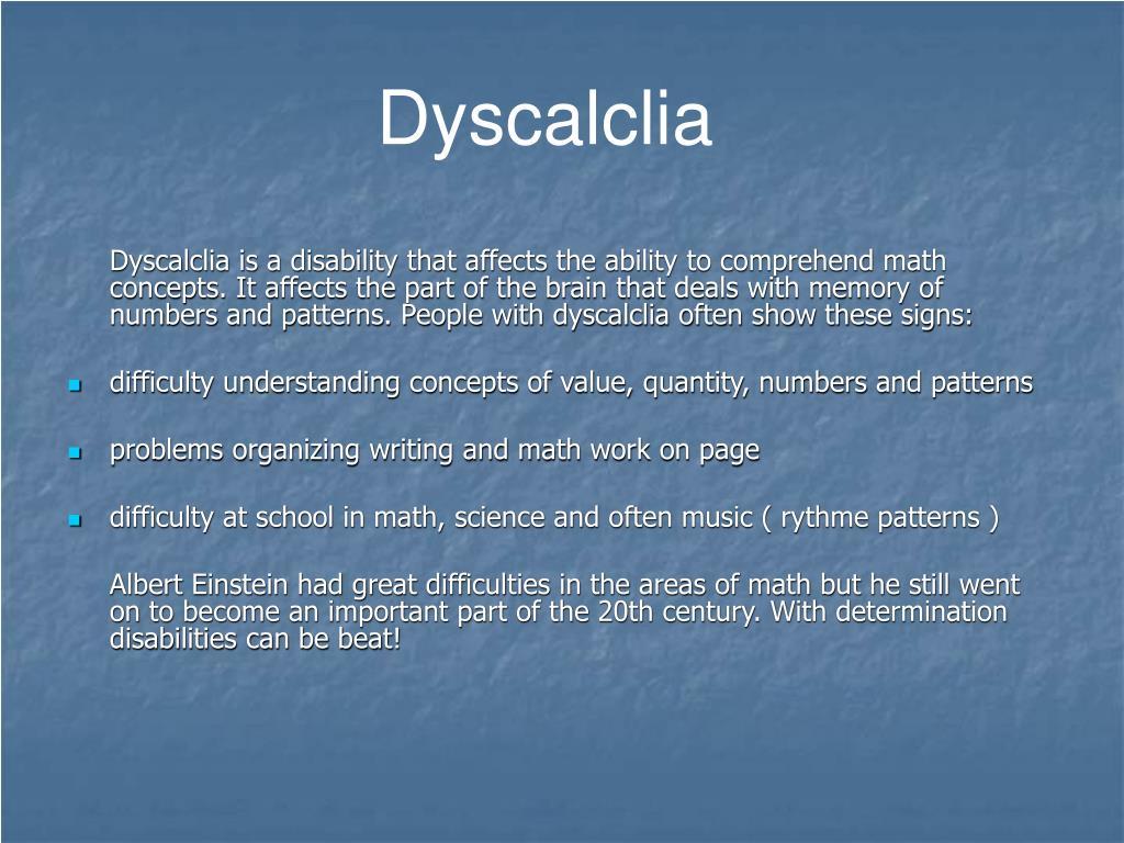 Dyscalclia