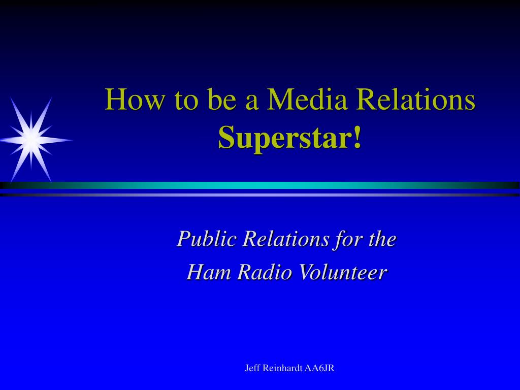 How to be a Media Relations