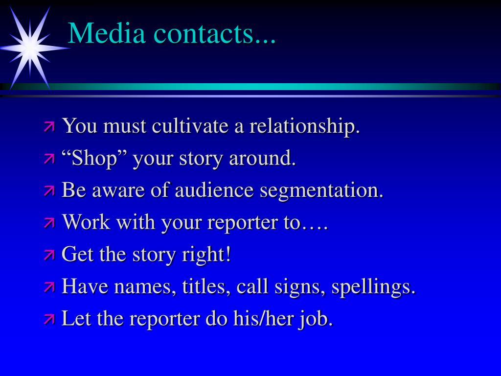 Media contacts...