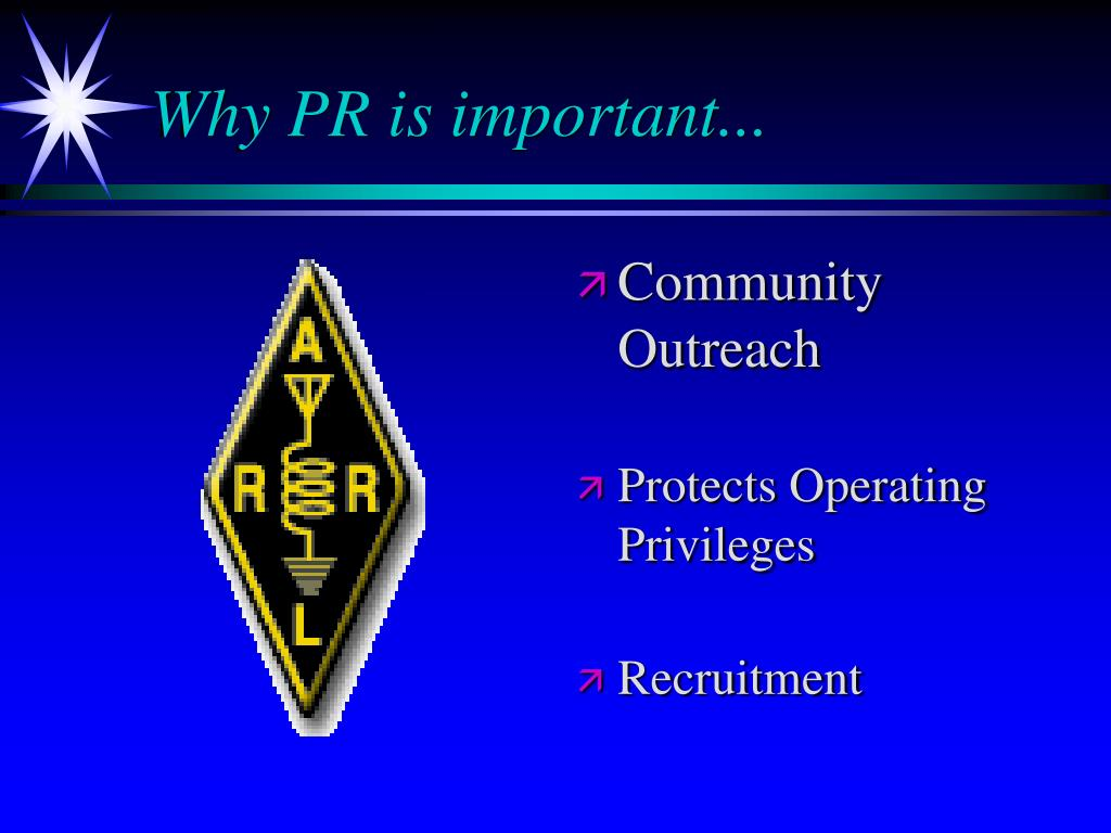 Why PR is important...