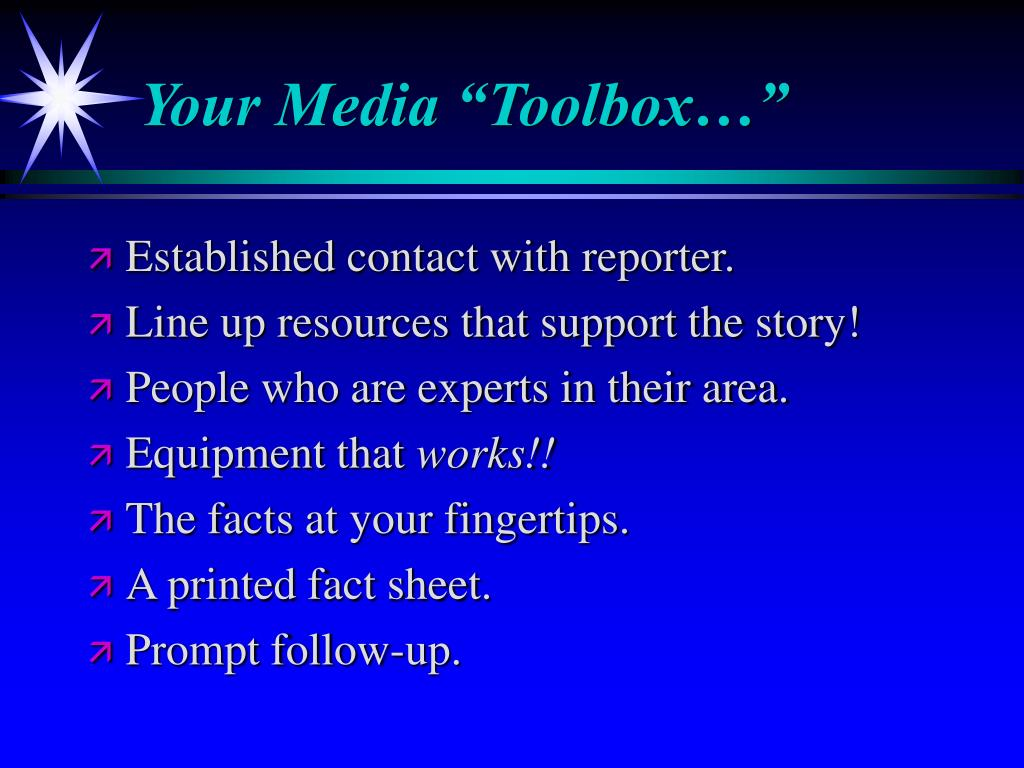 """Your Media """"Toolbox…"""""""