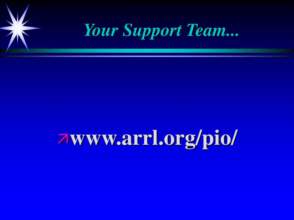 Your Support Team...