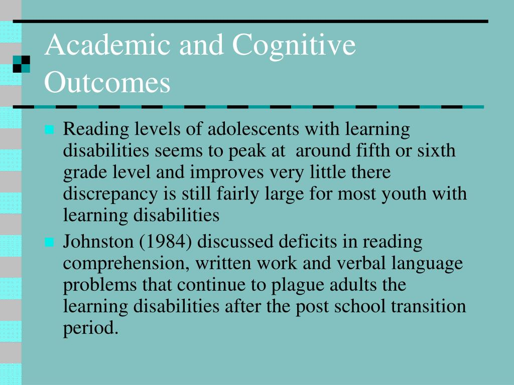 Academic and Cognitive Outcomes