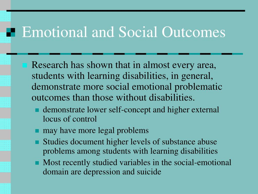 Emotional and Social Outcomes