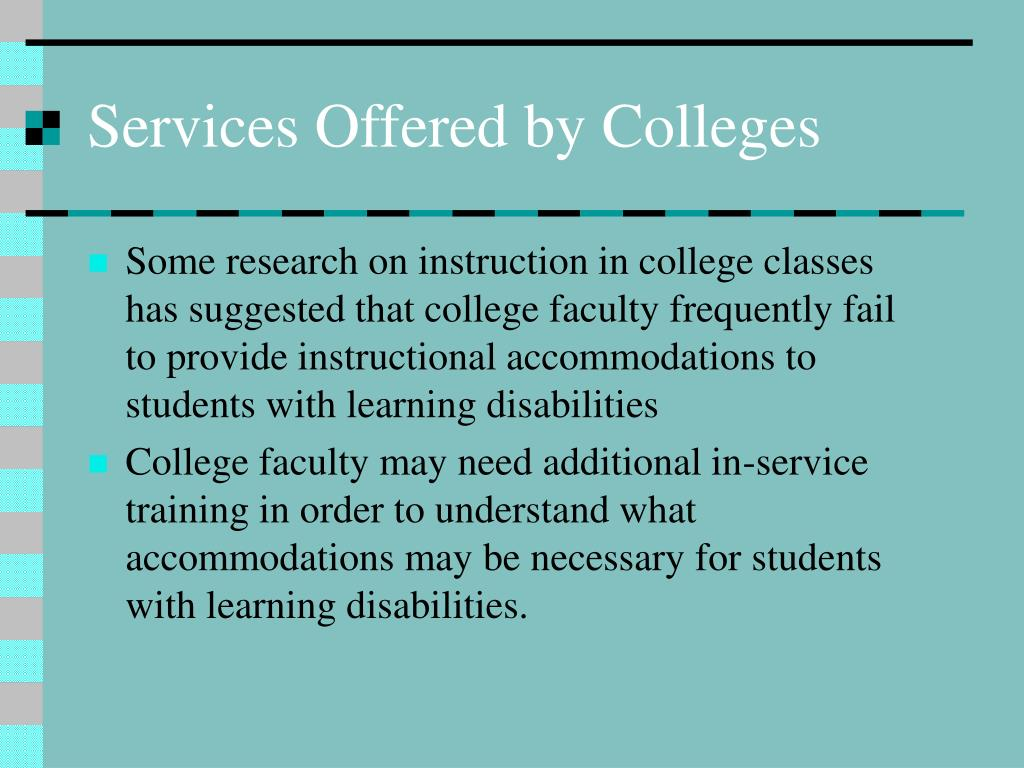Services Offered by Colleges