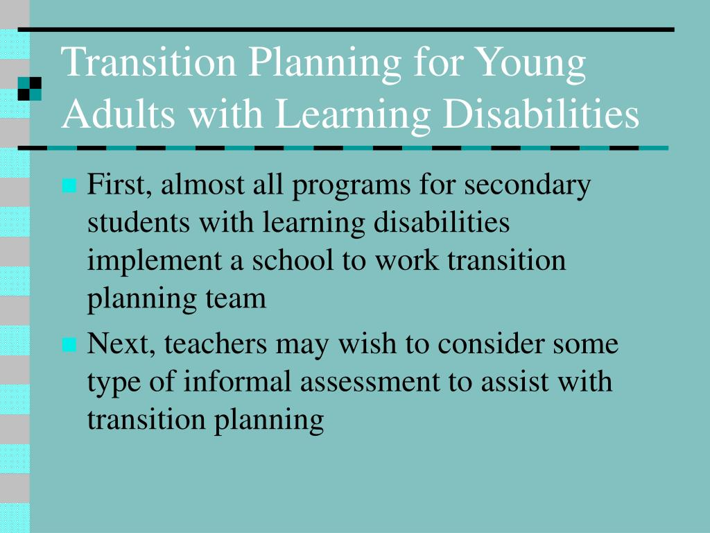Transition Planning for Young Adults with Learning Disabilities