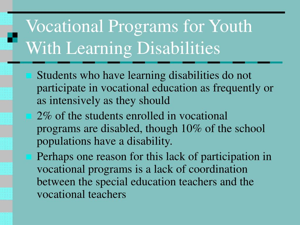 Vocational Programs for Youth With Learning Disabilities
