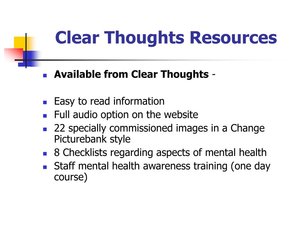 Clear Thoughts Resources