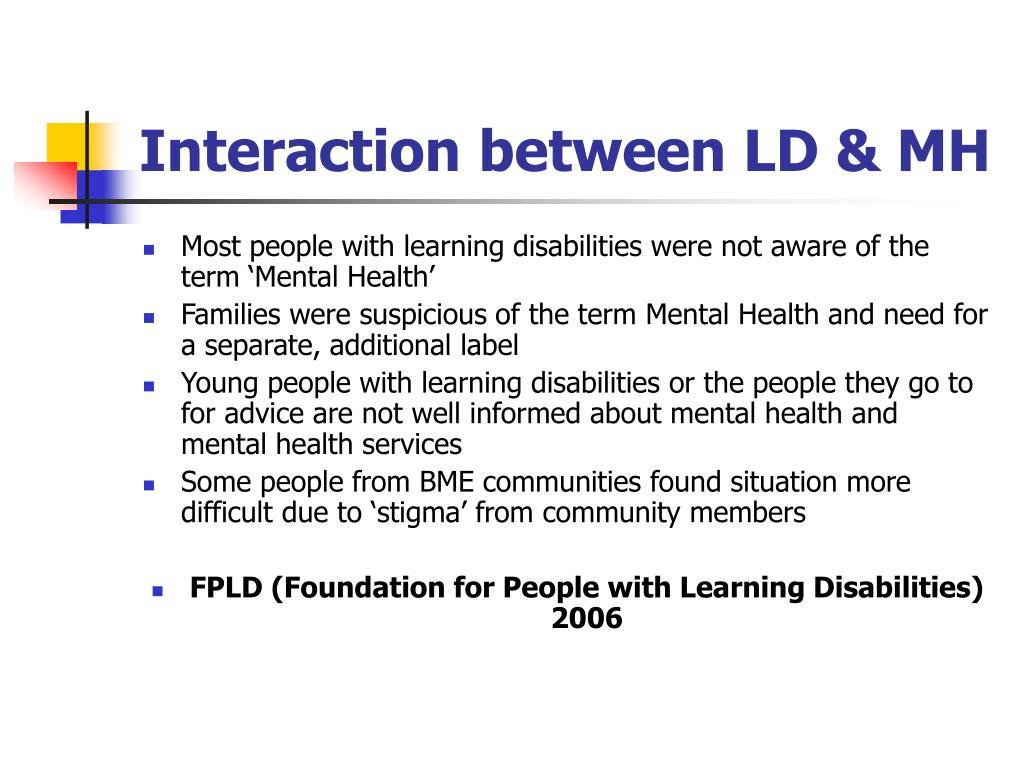 Interaction between LD & MH