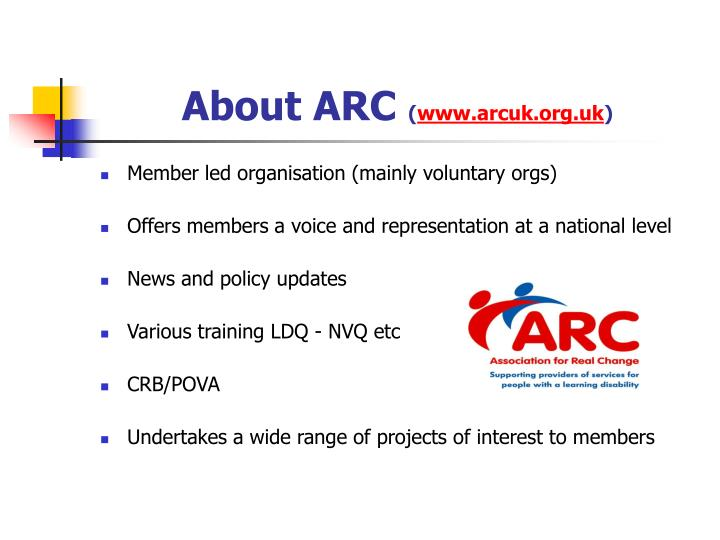 About arc www arcuk org uk