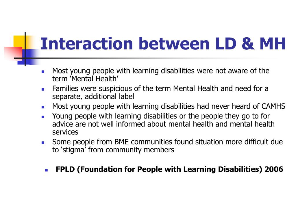 Interaction between LD & MH