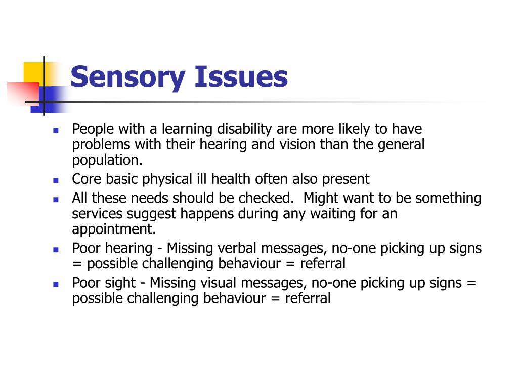Sensory Issues