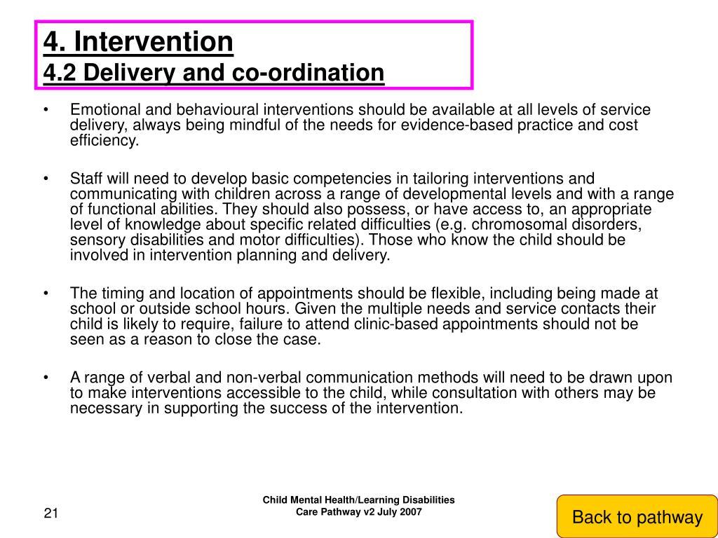 4. Intervention