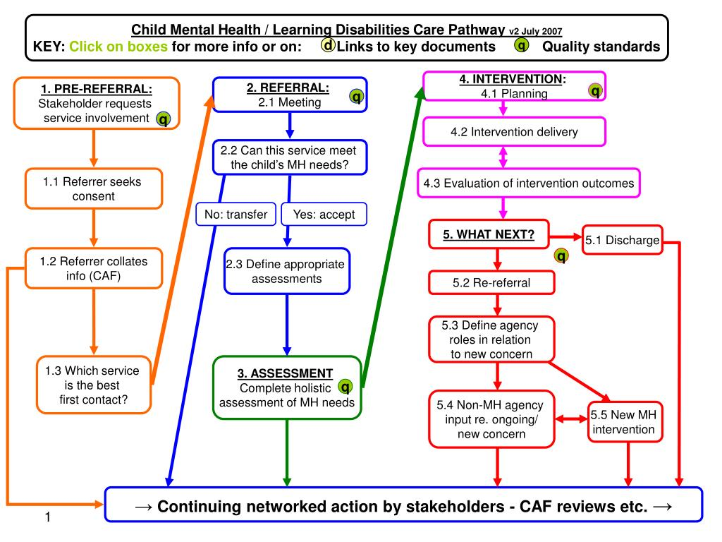 Child Mental Health / Learning Disabilities Care Pathway