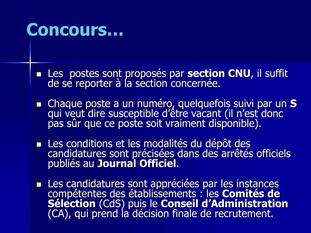 Concours…