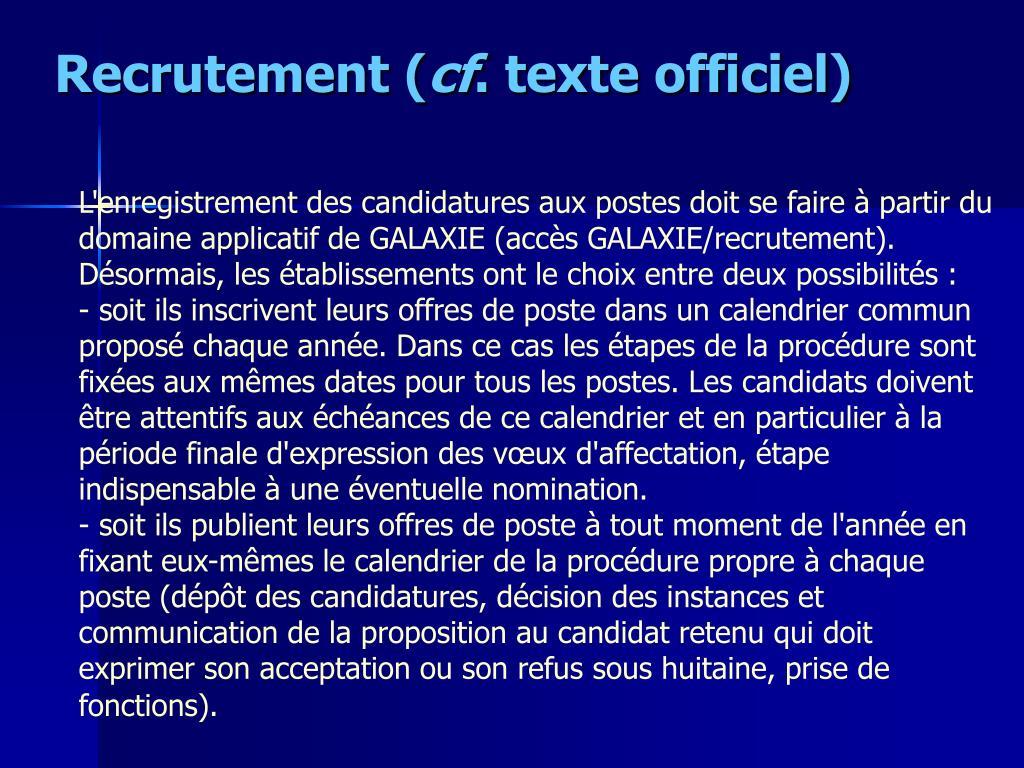 Recrutement (