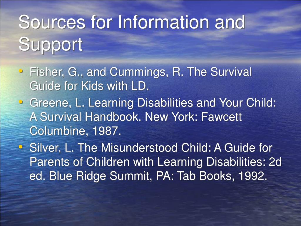 Sources for Information and Support