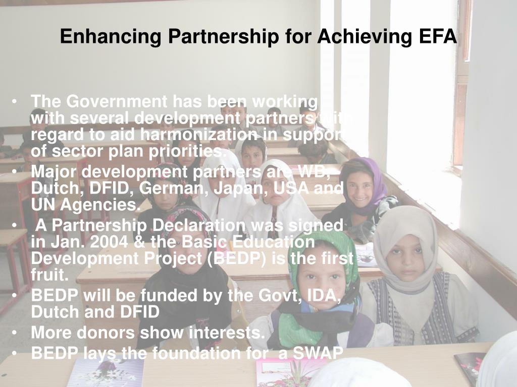 Enhancing Partnership for Achieving EFA