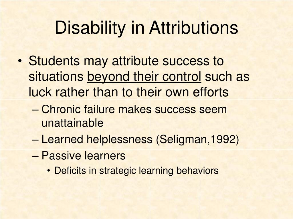 Disability in Attributions