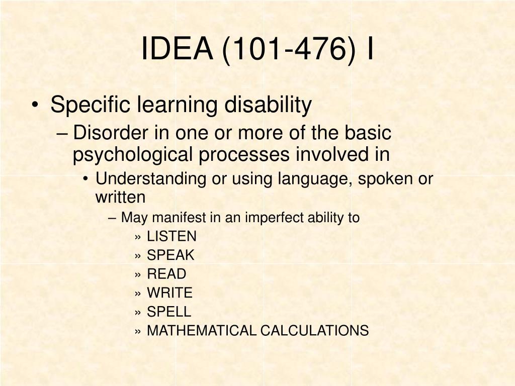 IDEA (101-476) I