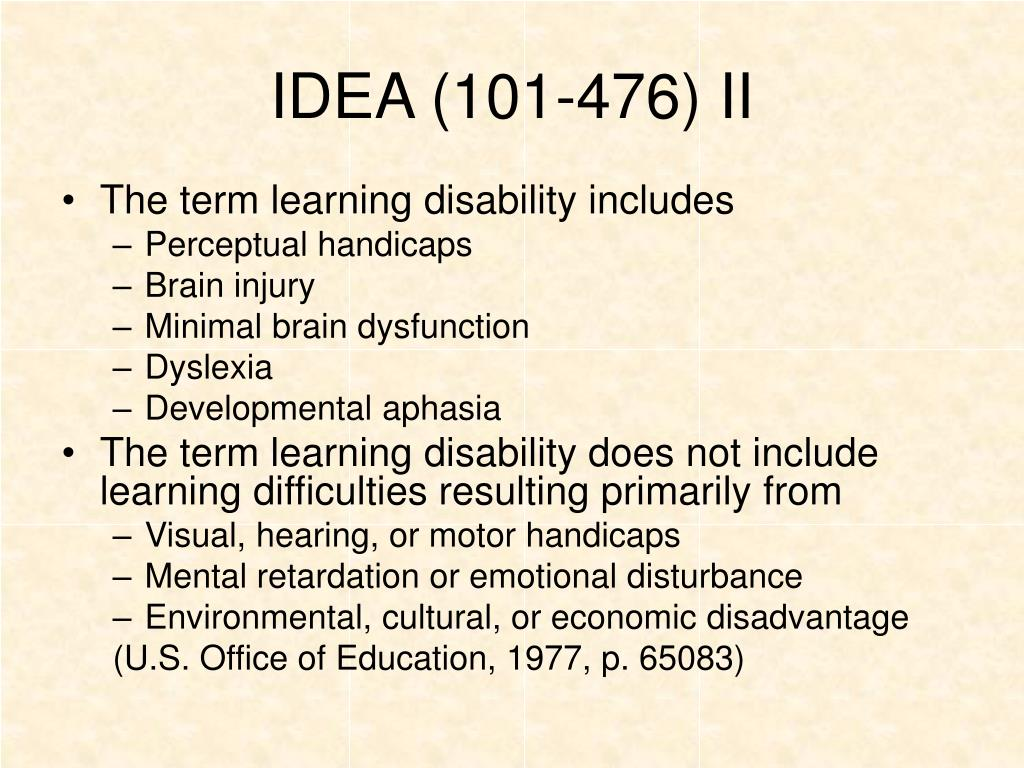 IDEA (101-476) II