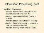 information processing cont