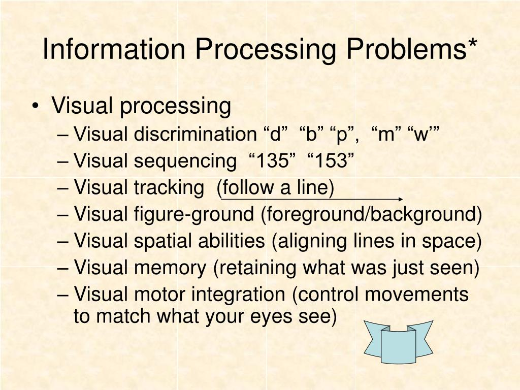 Information Processing Problems*