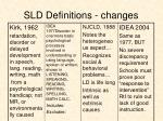 sld definitions changes