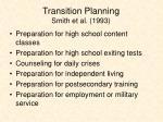 transition planning smith et al 1993