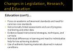 changes in legislation research and education14