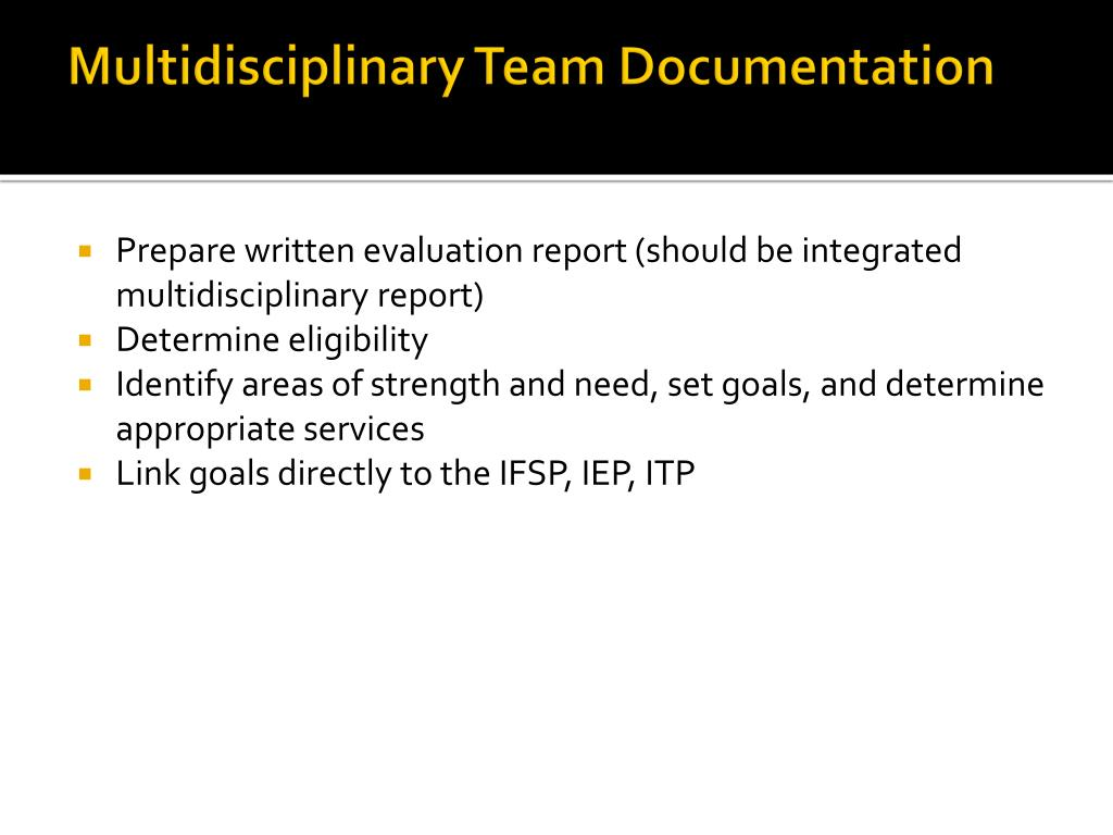 Multidisciplinary Team Documentation