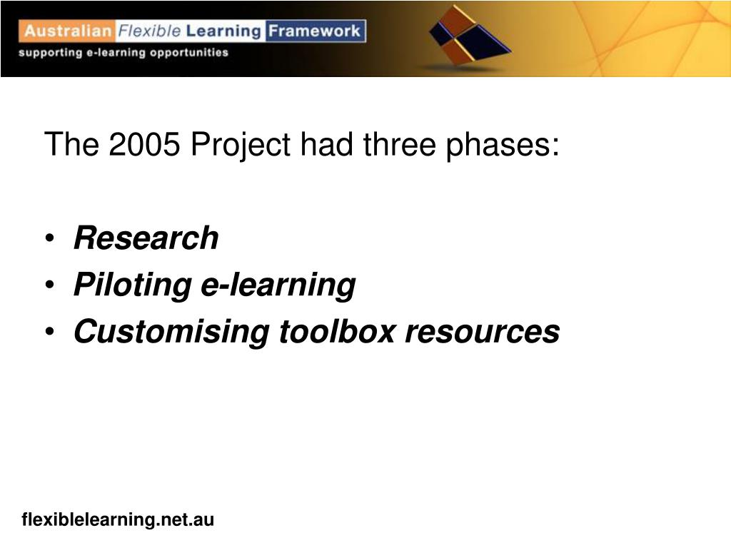 The 2005 Project had three phases:
