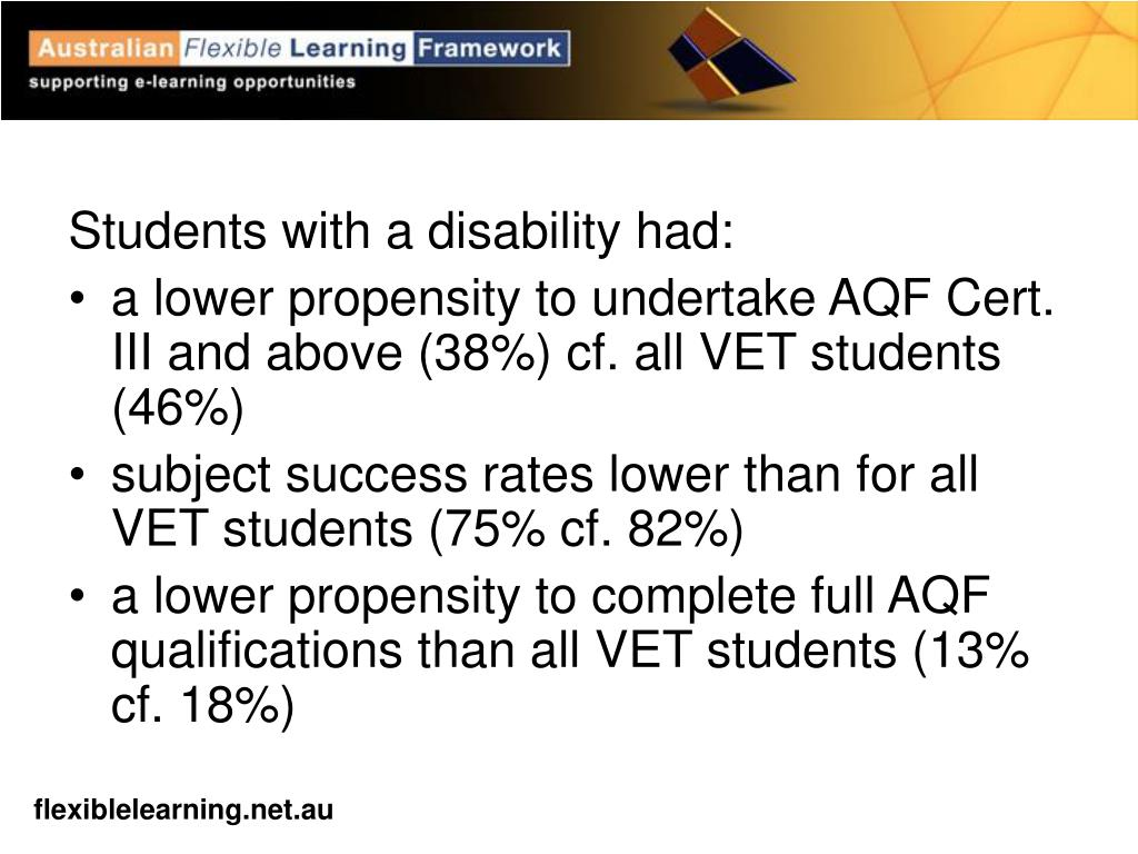 Students with a disability had: