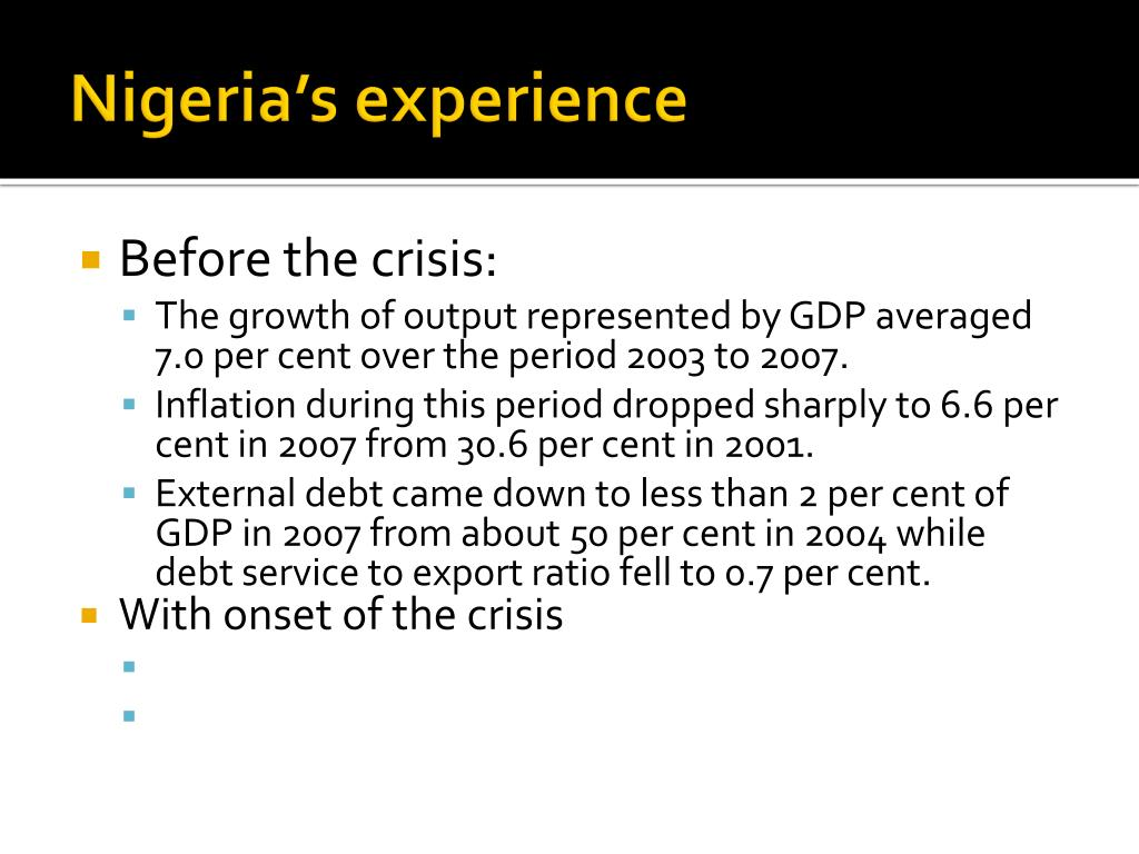 Nigeria's experience