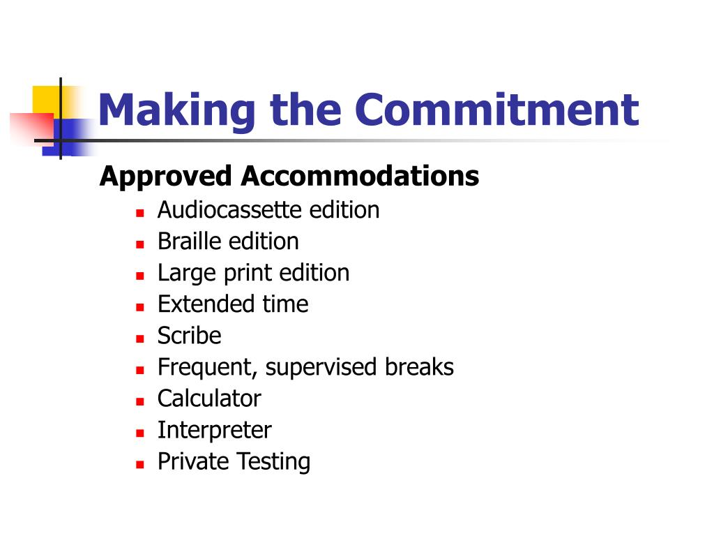 Making the Commitment