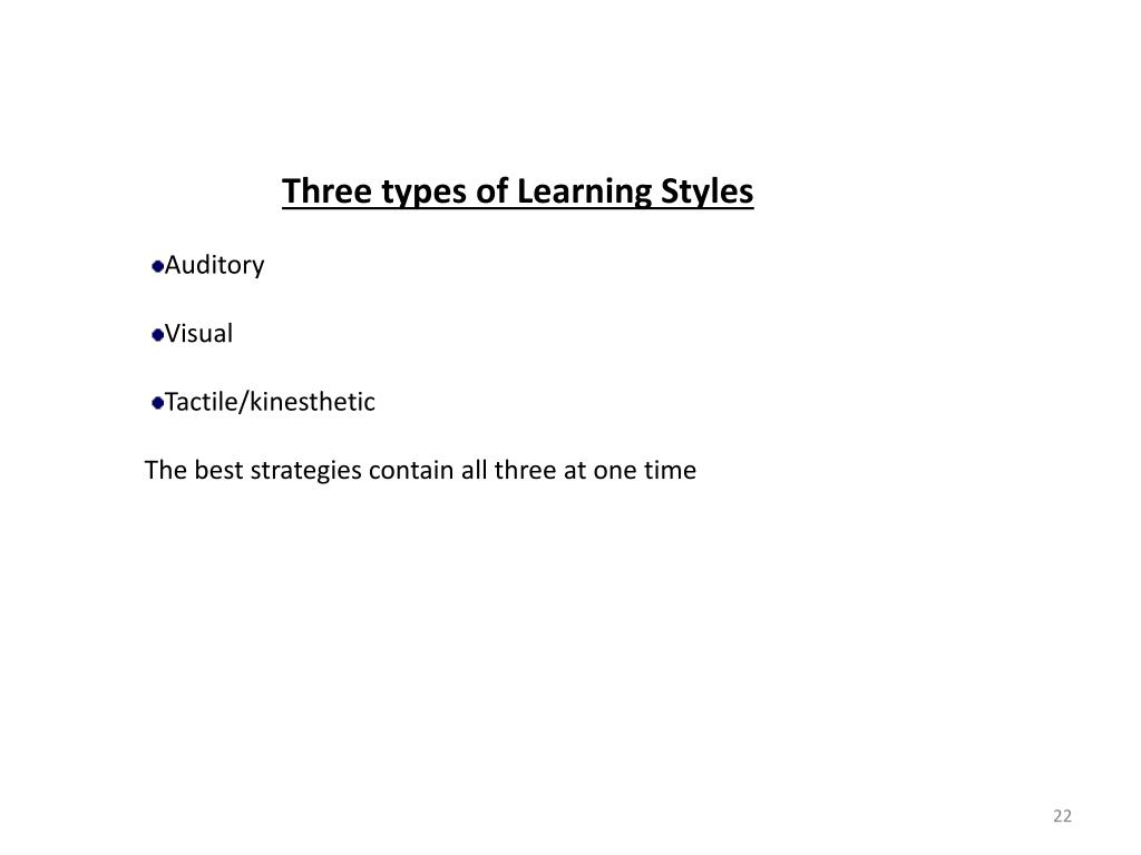Three types of Learning Styles
