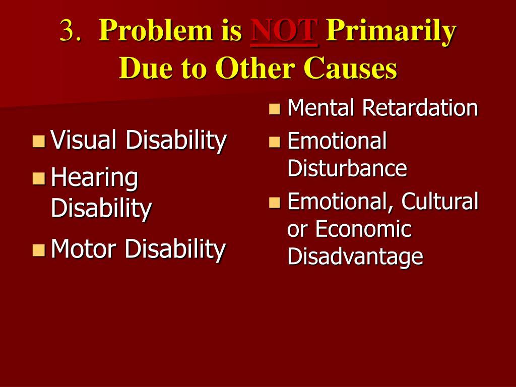 Visual Disability