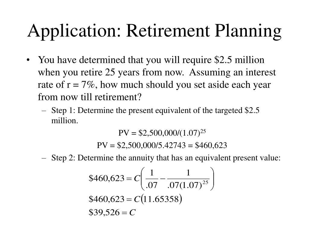 Application: Retirement Planning