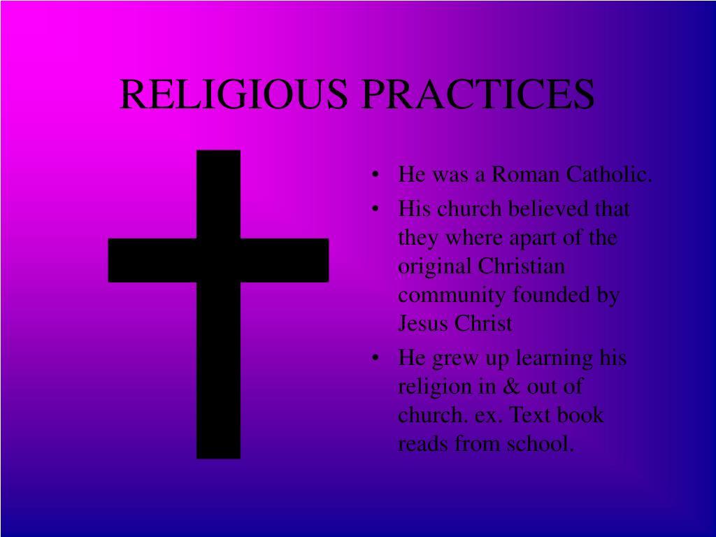 RELIGIOUS PRACTICES