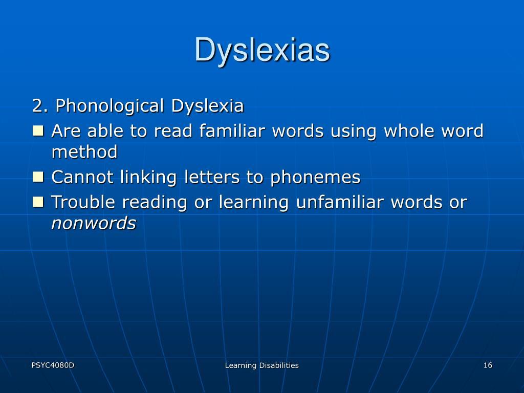 Dyslexias
