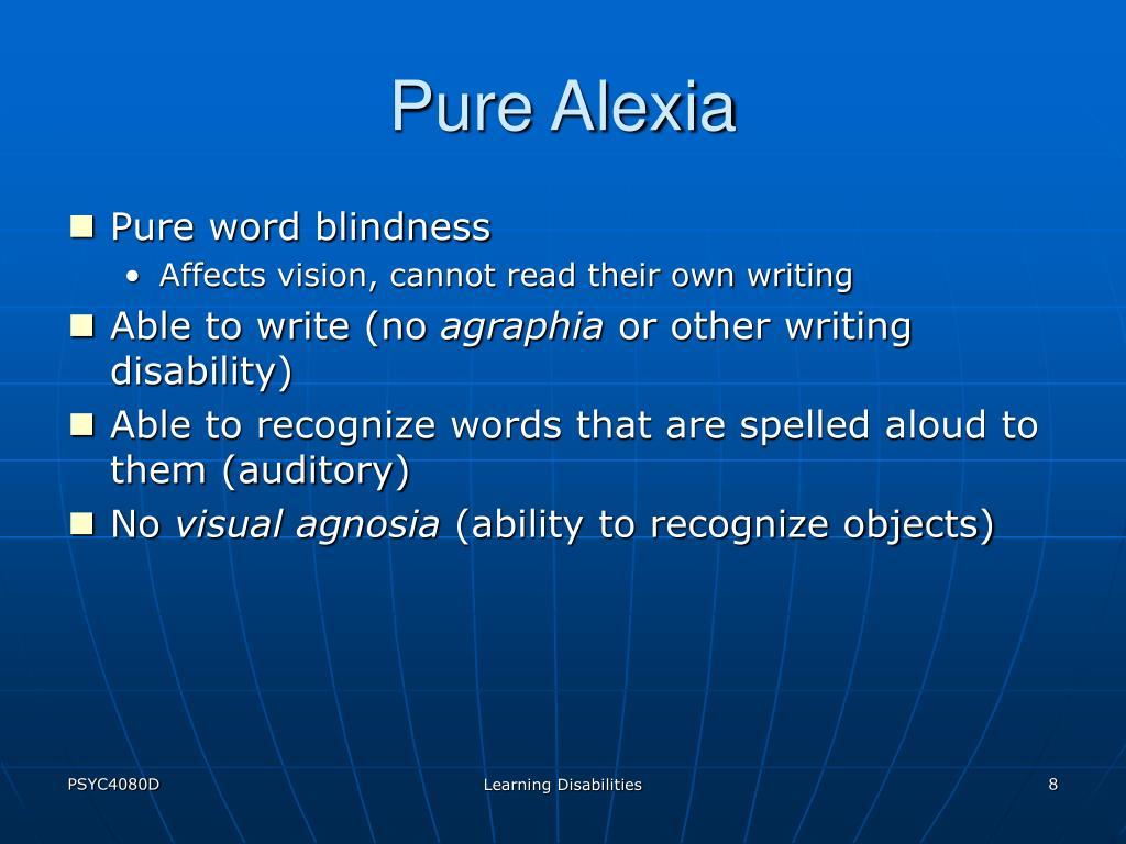 Pure Alexia