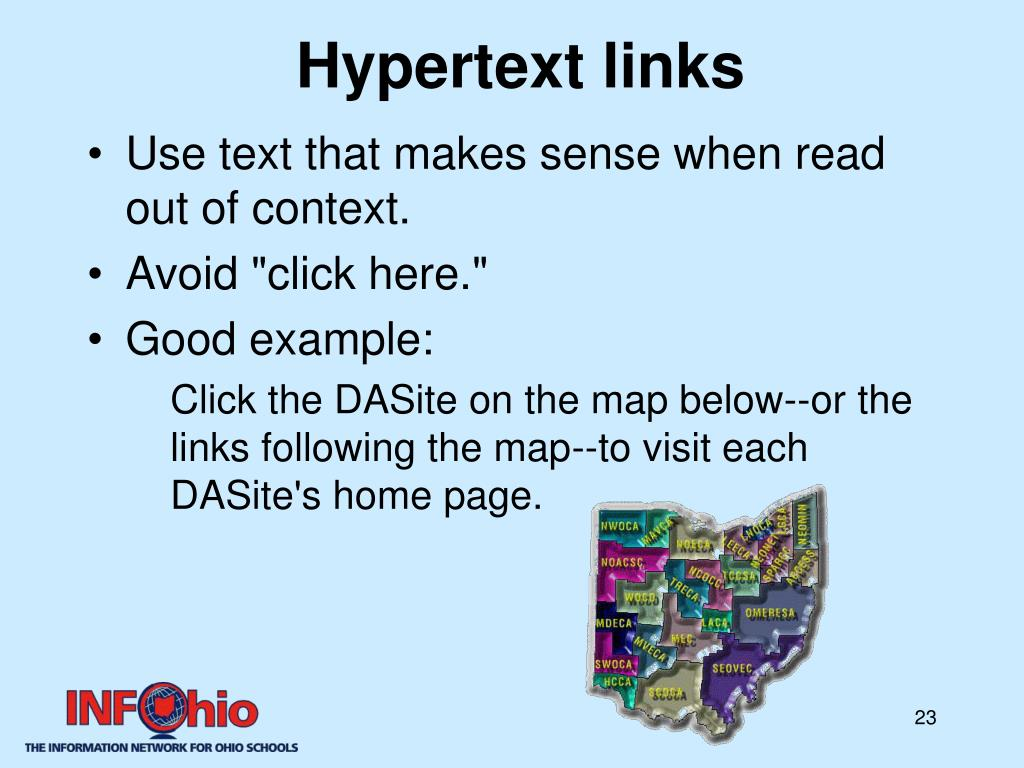 Hypertext links