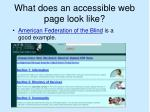 what does an accessible web page look like