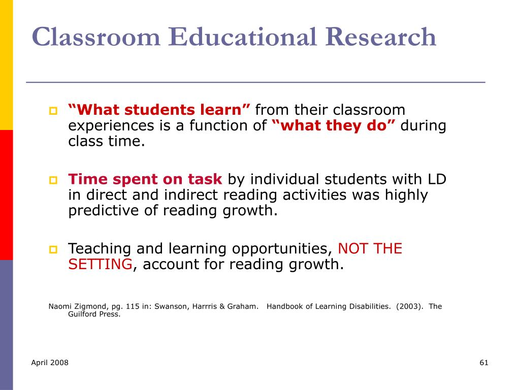 Classroom Educational Research