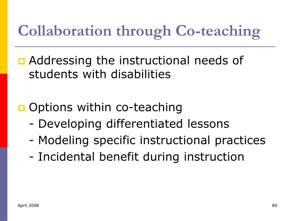 Collaboration through Co-teaching