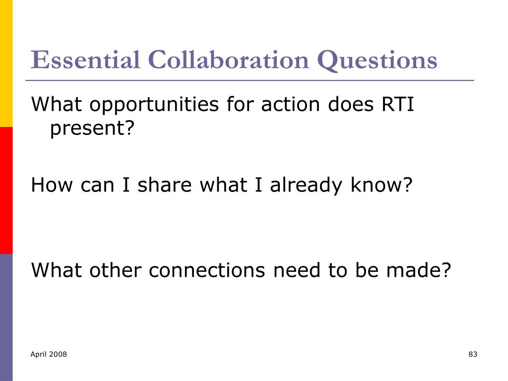 Essential Collaboration Questions