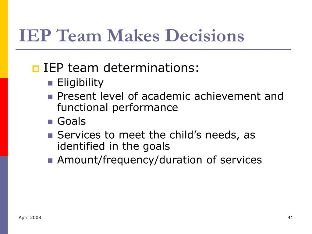IEP Team Makes Decisions