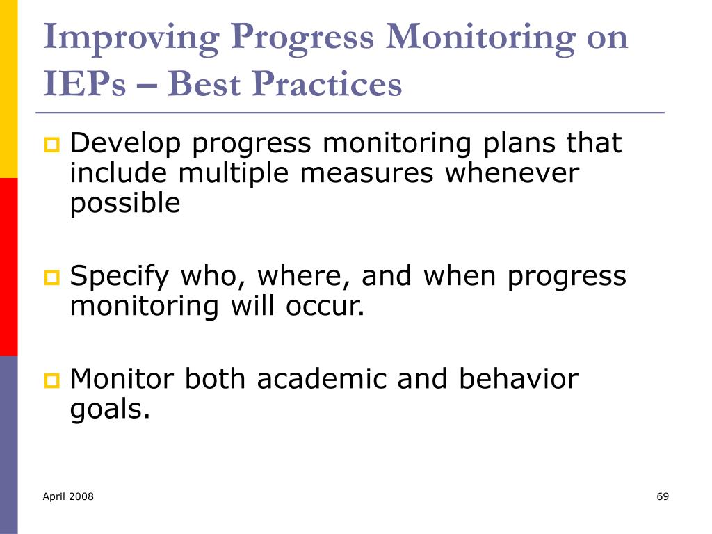 Improving Progress Monitoring on IEPs – Best Practices